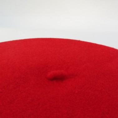 Béret Classique Rouge Femme