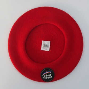 Classic red beret for women