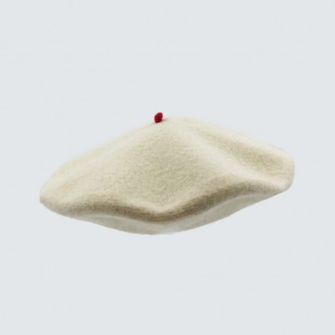 Premium Beret Off White Man
