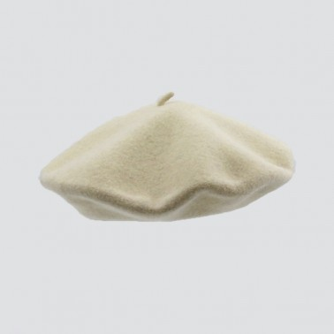 Classic Beret Off White Woman