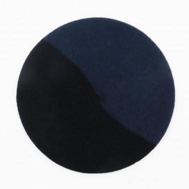 Béret duo denim et bleu marine