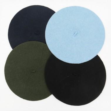 bérets Eco Jean bleu noir kaki marine