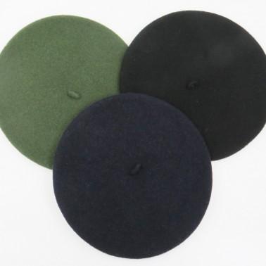 bérets casquettes noir marine kaki