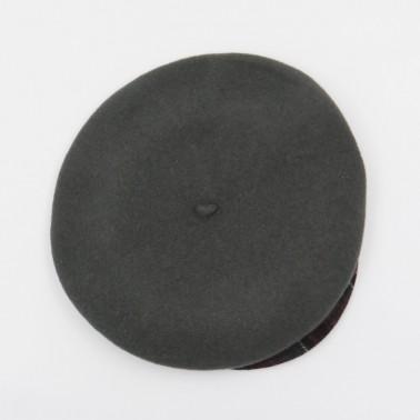 Béret casquette tartan gris femme