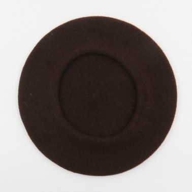 Béret Classique Chocolat Femme