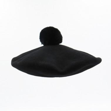 Béret Pompon noir