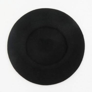 Béret Classique Noir Femme
