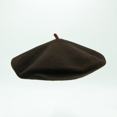 Premium Beret Chocolate Woman