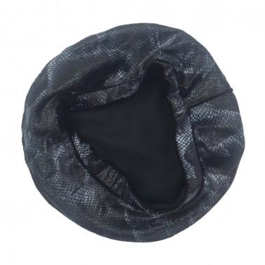 Snake print beret