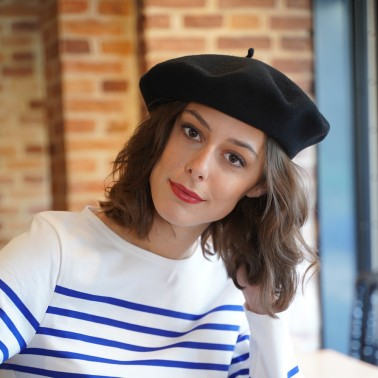 Classic Black Beret for women