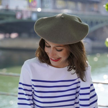Classic Taupe Beret  Woman