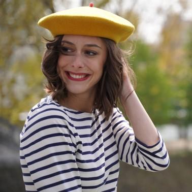 Mustard Premium Beret Woman