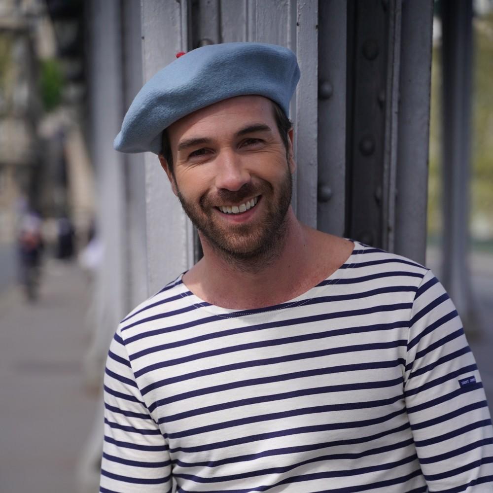 Béret Mode Bleu Crépuscule Homme