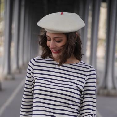 Béret Mode Ecru Femme