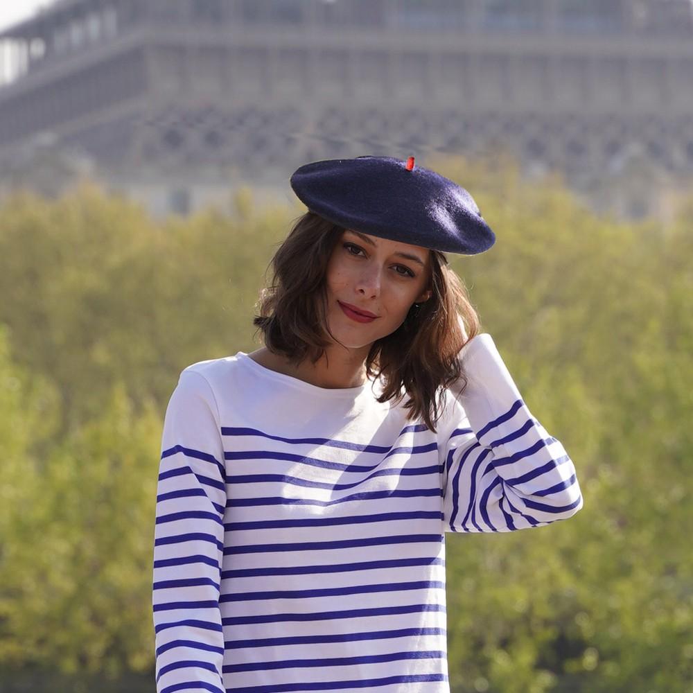 Premium Beret Navy Woman