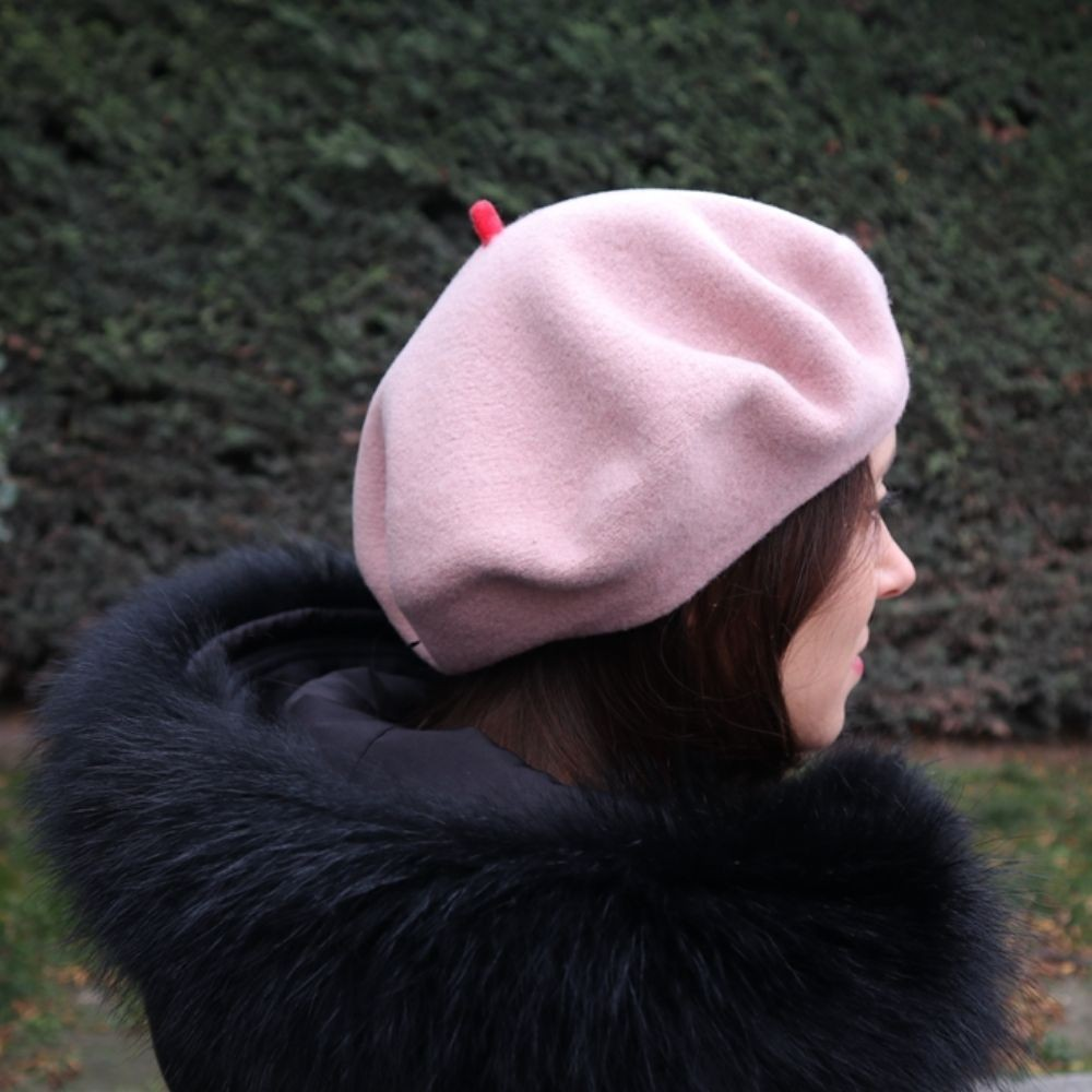 Béret Mode Rose Pâle