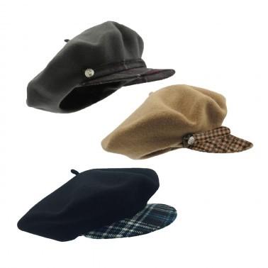 Les bérets casquettes tartan